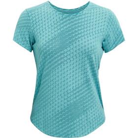 Under Armour Streaker Runclipse Short Sleeve Shirt Women, Bleu pétrole